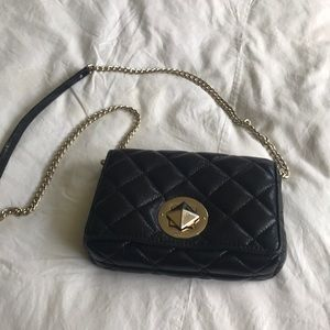 Kate spade quilted black leather crossbody